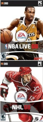 EA Sports 2 Pack: NBA Basketball Live 08 + NHL « Game Time Home
