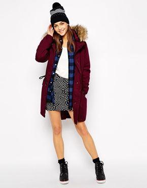 Enlarge Only Long Line Parka With Fur Hood