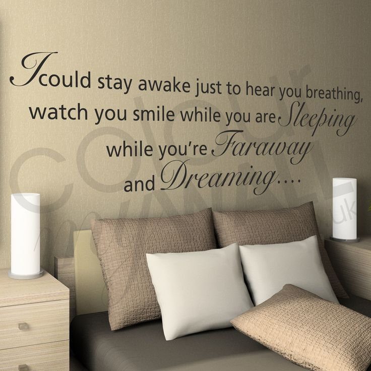 Quotes About Wedding & Love: Aerosmith I Dont Want To Miss A Thing Lyrics  Wall Sticker Quote. This is de