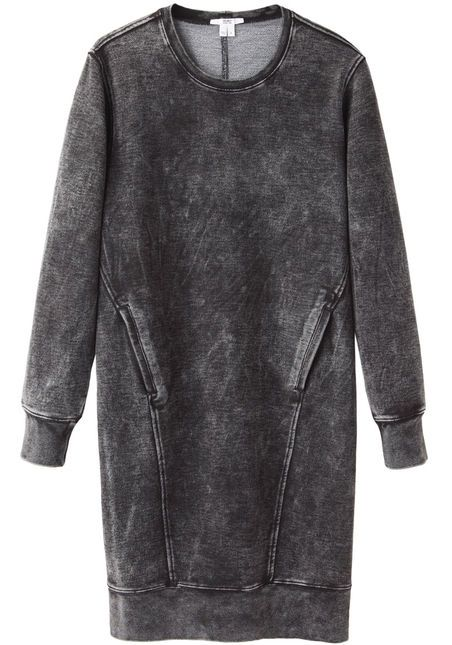 HELMUT Helmut Lang  Acid Wash Sweat Dress