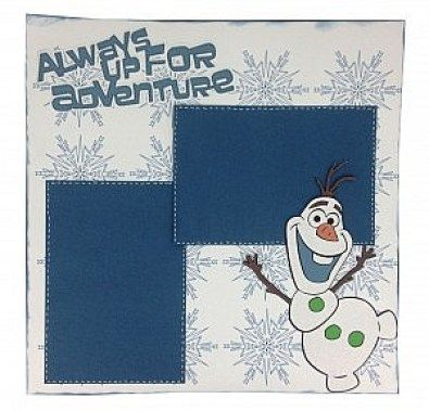 Olaf layout made with Frozen Cricut cartridge