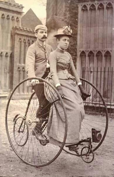 The woman looks so irritated that she's on that confounded contraption lol