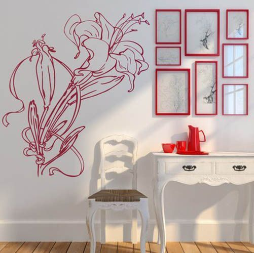 13 best red bedroom images on pinterest bedrooms red for Decozilla wall art