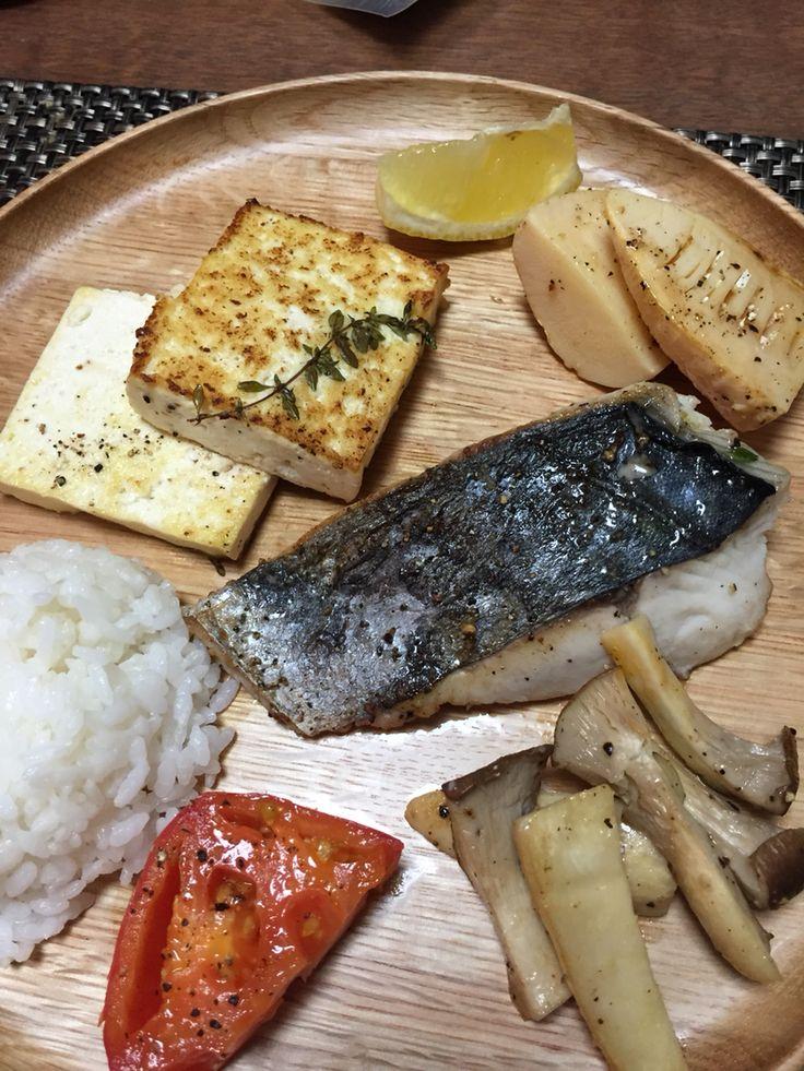 Fish dinner plate.