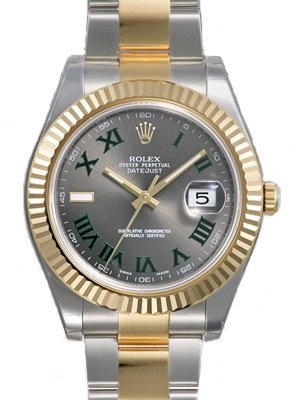 Rolex Datejust II Grey Roman Dial 18k Yellow Gold Bezel Two Tone Oyster Bracelet Mens Watch 116333GYRO Rolex // This is My Favorite EveryDay Watch!! Clean & Classic!!  $10,356.70