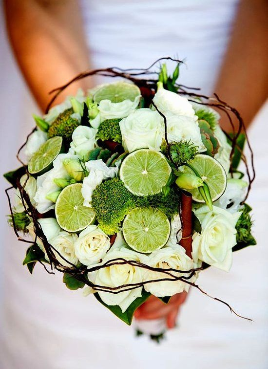 Gorgeous use of limes within a bouquet to create something very special