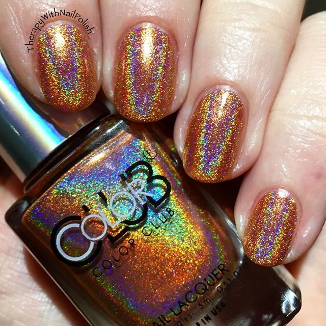 Holy holo @colorclubnaillacquer! ✨✨ This is Cosmic Fate, a part of #december @meeboxuk, all #holographic and sparkly!  #nails #nailart #meebox #nailstagram #instanails #christmas #nailsofinstagram #naildesigns #nailfashion #nailswag #nailpromote #colorclub #uknails #therapywithnailpolish #