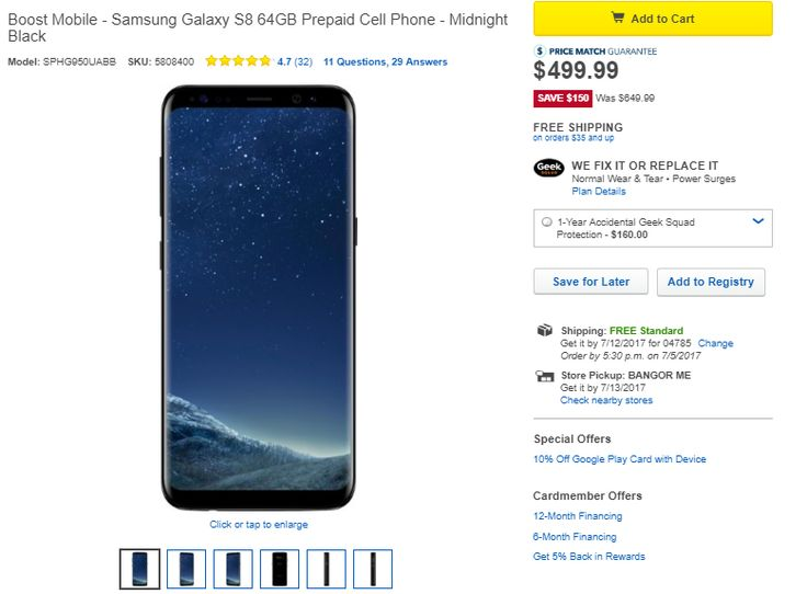 Deal: Samsung Galaxy S8 for Boost Mobile can now be yours for just $500