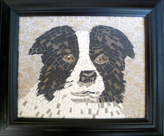 Mosaic Custom Pet Portrait Dog Cat from photo by SunAndCraft, $230.00