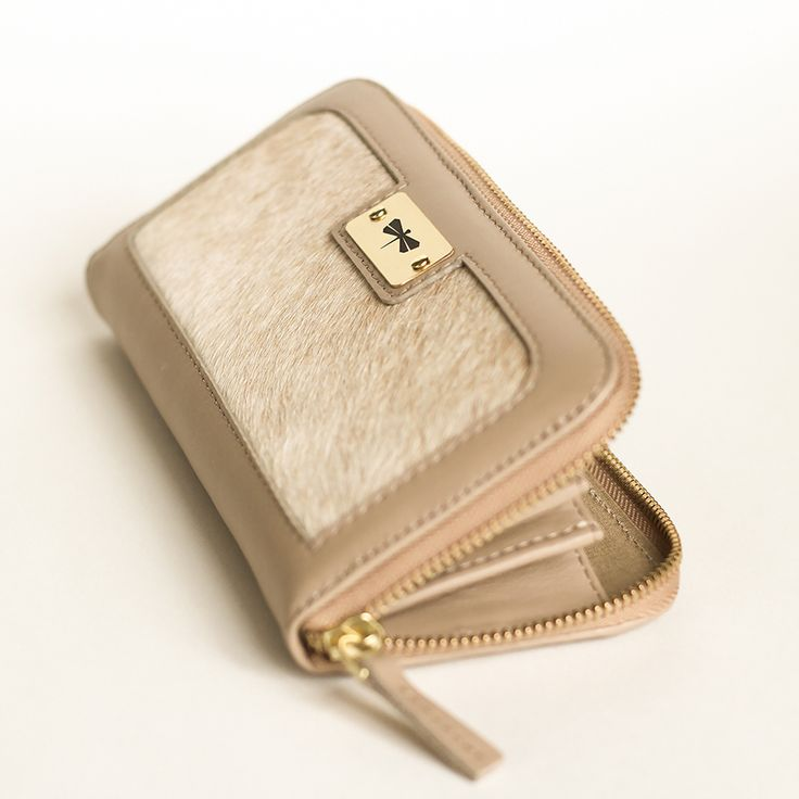 Leather & fur ANNAMARIA PAP handmade wallet