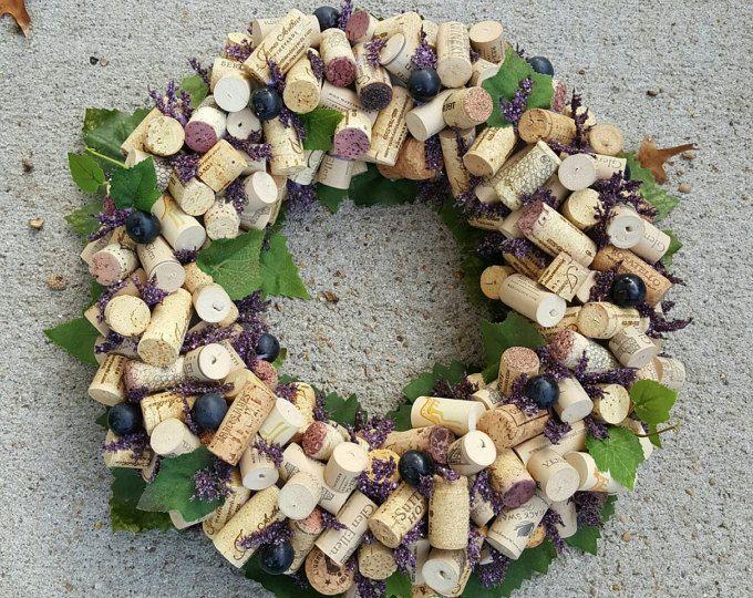 """Corona de corcho del vino uva 12-14"""""""