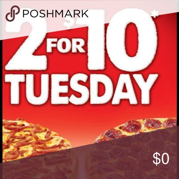 ITS STILL TUESDAY AND WHO DOESNT LOVE PIZZA&DEALS Everything is 2 for $10 besides Nike shoes. Just let me know what you want and I will adjust the prices for you😋. If you want multiple items I will adjust the prices for an even better bargain. Enjoy! Other