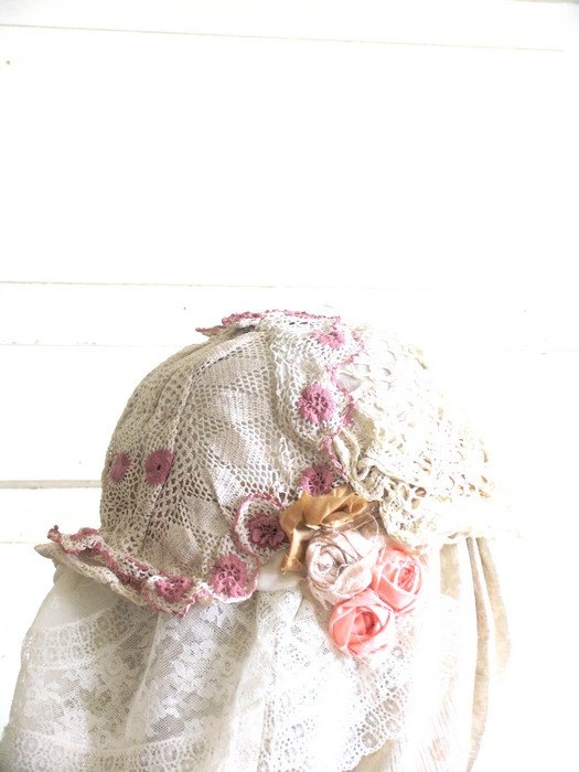 Valentaine Wedding Hat Edwrdian Hat Romantic Hat by recyclingroom, $45.00