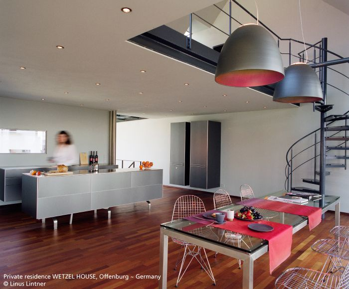 The Nur suspensions are perfect in high ceiling rooms #Nur Metamorfosi suspensions #design Ernesto Gismondi