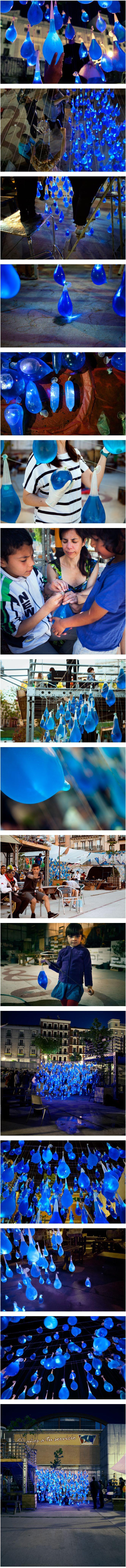 Voici la dernière installation lumineuse de Luzinterruptus collectif artistique et protestataire madrilène
