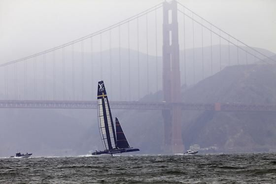 The excitement of the America's Cup in San Francisco.  What a great backdrop!