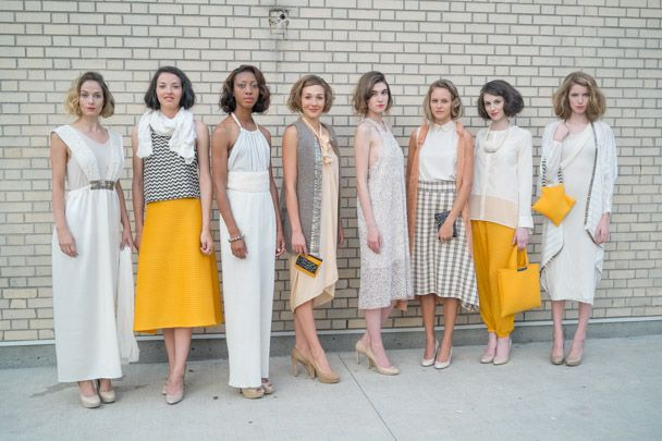 VFW SS15 Connally Mcdougall collection - stunning women's eco fashion  VFW 2014-Threaditorial Fashion Streetstyle