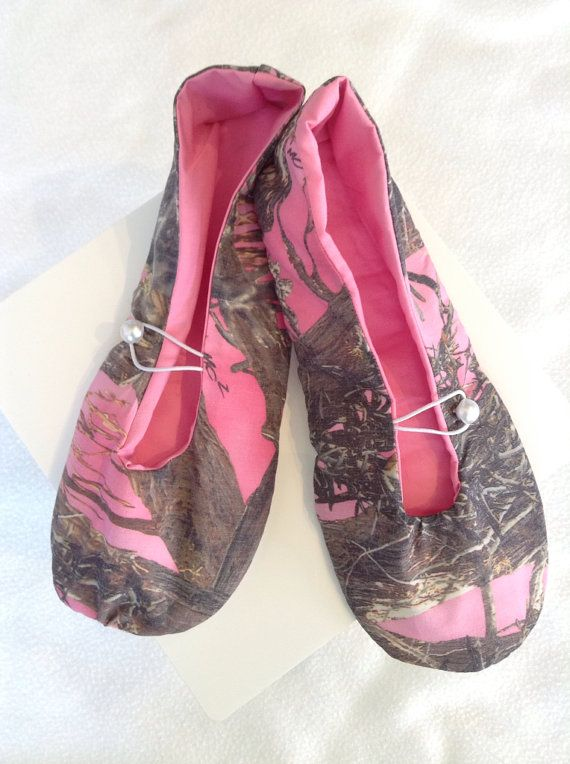 Anti+skid+Ballet+House+slippers+pink+Camouflage+by+MamasCave