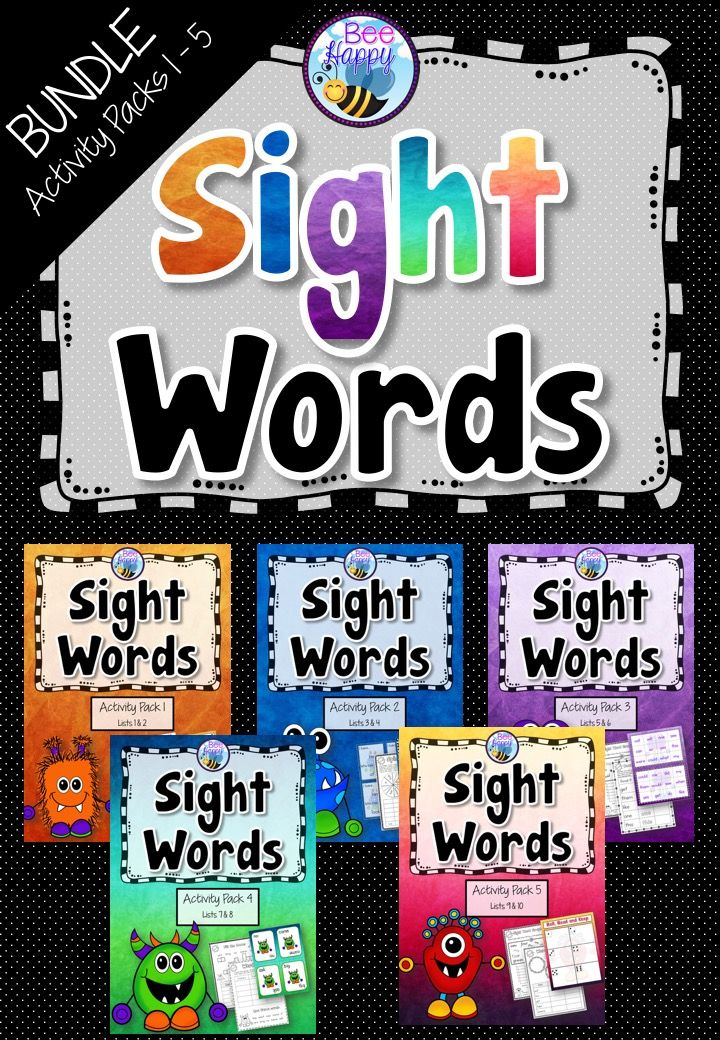 Sight Bundle - Worksheets, Games and Flash Cards are great for Foundation to Year 1 students! This sight word bundle is packed full of worksheets and activities designed to teach, consolidate and review the first one hundred sight words a child needs to learn to become a successful reader. 150 pages for $24! http://designedbyteachers.com.au/marketplace/sight-word-bundle-worksheets-games-and-flashcards-packs-1-5/