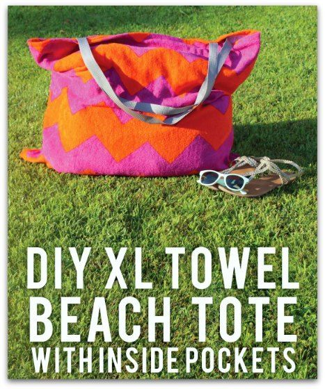 Extra Large Beach Towel Bag with Pockets Sewing Tutorial from Kim Conner