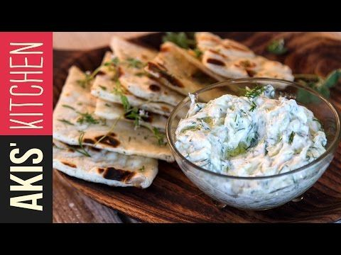 How to make Greek Tzatziki Sauce | Akis Kitchen - YouTube
