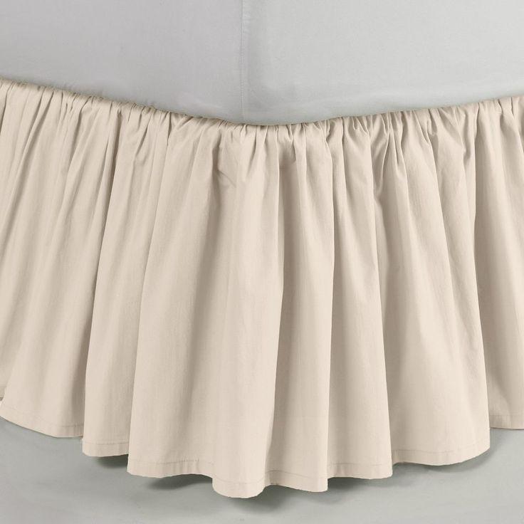 LC Lauren Conrad Ruffle Bed Skirt, White