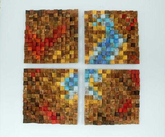 Recuperato arte di legno della parete parete di ArtGlamourSligo