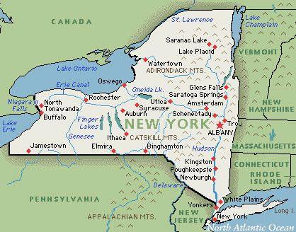 New York Map Hudson River