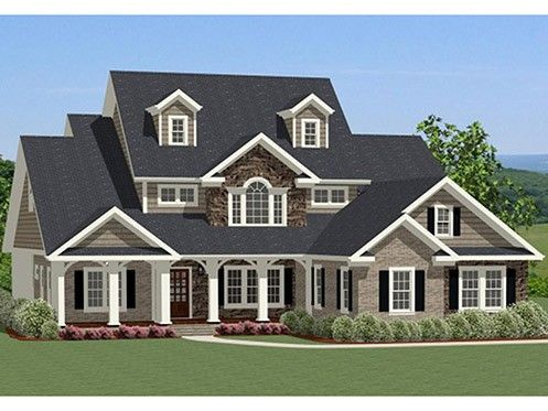 Traditional home plan with 2880 square feet and 4 bedrooms for 2 bedroom house plans wrap around porch