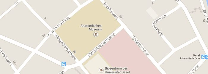 Map »Basel» Museums and exhibitions »Anatomical Museum in Basel Map data © 2014 Google Terms of Use Report a map error Map Satellite An ...