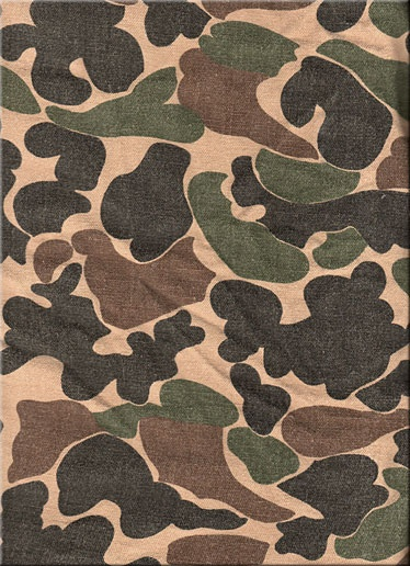 United States Beo Gam' Camouflage Pattern 4040 Military Custom Old School Camo Pattern