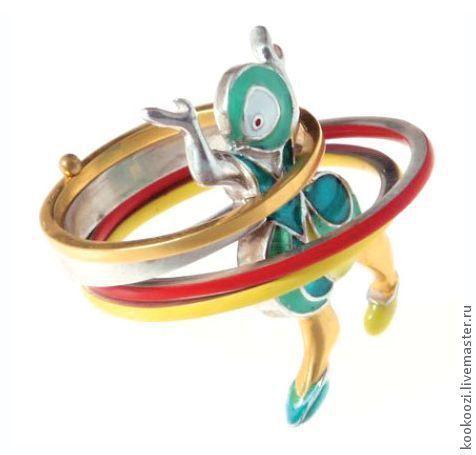 Купить или заказать Кольцо 'Девушка с обручами' в интернет-магазине на Ярмарке…