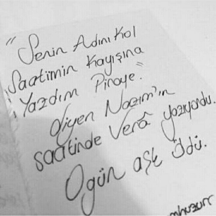 """"""" Senin adını kol saatimin kayışına yazdım Piraye."""" diyen Nazım'ın saatinde Vera yazıyordu. O gün aşk öldü."""
