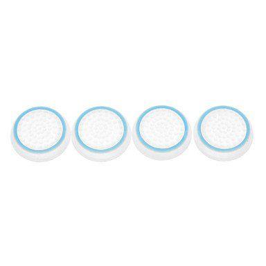 4 Chapeaux de protection joystick manette pour PS4 avec lumière dans la nuite - Bleu