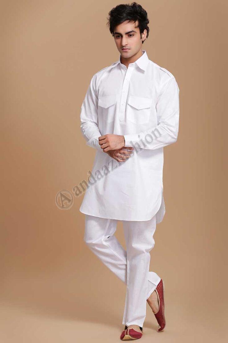 Mens Usure Ethnique Conception n ° 5053 Prix- 20,12  Andaaz Fashion Designer de lAid Present coton blanc Kurta Payjama  Pour plus Détails- http://www.andaazfashion.fr/men/kurta-pajama/men-ethnic-wear.html