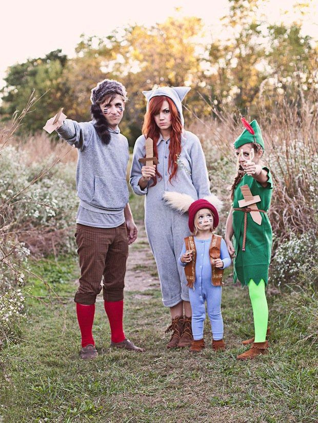 Looking for a fun and playful family dress-up idea? You definitely won't want to miss these fantastic DIY Peter Pan and the Lost Boys Halloween costumes!