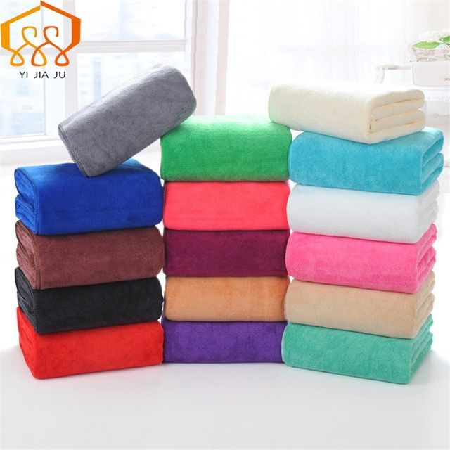 19 Colors 180x80cm Microfiber Beach Towel Supersoft Bath Towel