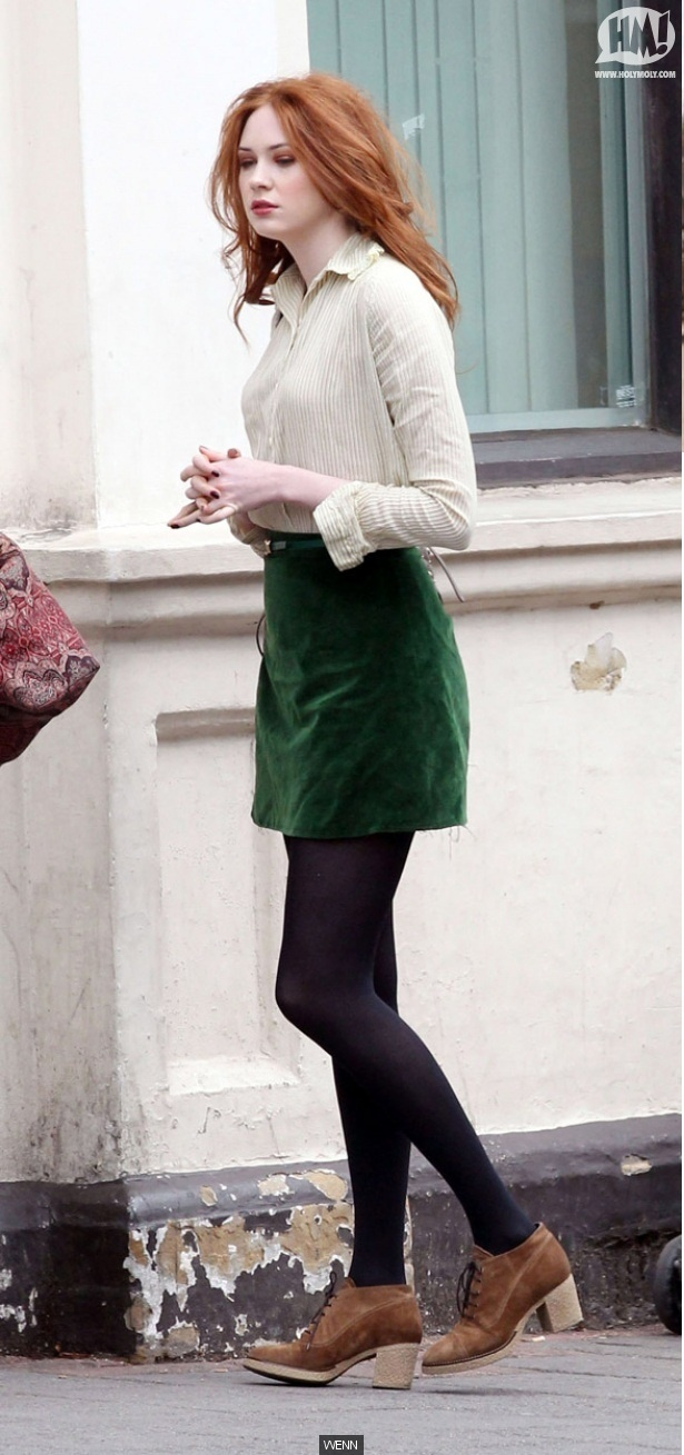 I love this outfit Karen Gillan's wearing so much!