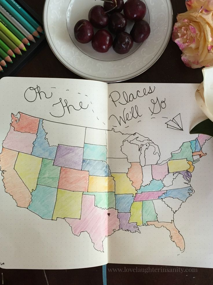 Track all of the states you've visited in your Bujo // Bullet Journal Show and Tell