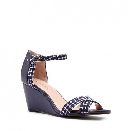 Sole Society - Mini wedge sandals - Melena - Navy White Navy