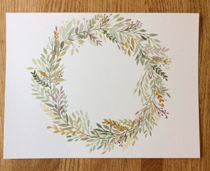 Watercolour Wreath! Stay tuned for NEW prints available in our SpeakGlitter.comstore this summer!