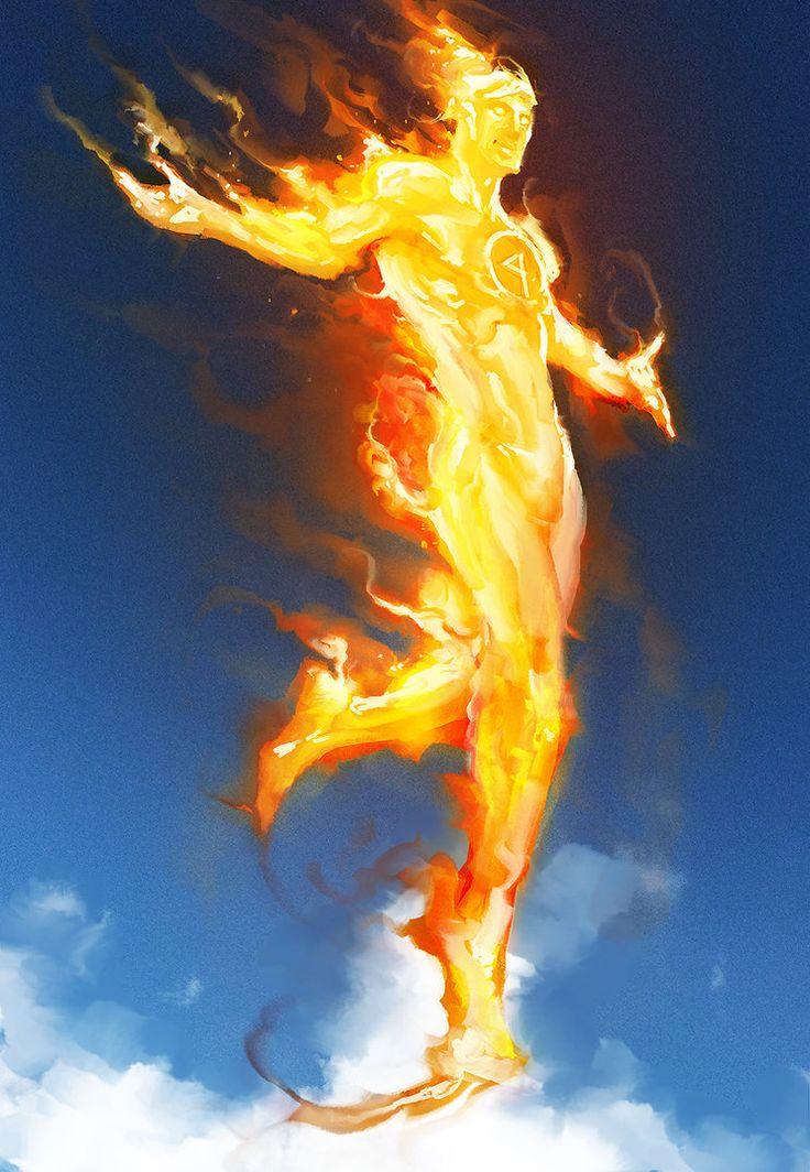 Human Torch by Aaron Nakahara
