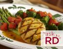 Healthy Dining Finder - Grilled Salmon and Asparagus Salad from Bonefish Grill