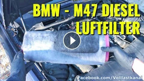 BMW LUFTFILTER KAMPF - M47 Diesel Luftfilter RICHTIG wechseln / Change Air Filter BMW 320D 520D 118D: Luftfilter / Innenraumfilter wechseln…
