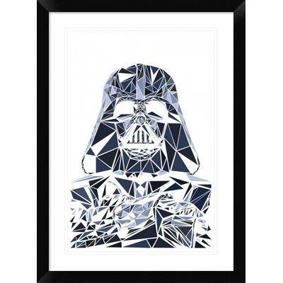 "Naxart 'Darth Vader Mask' Framed Graphic Art Print Size: 30"" H x 22"" W x 1.5"" D"