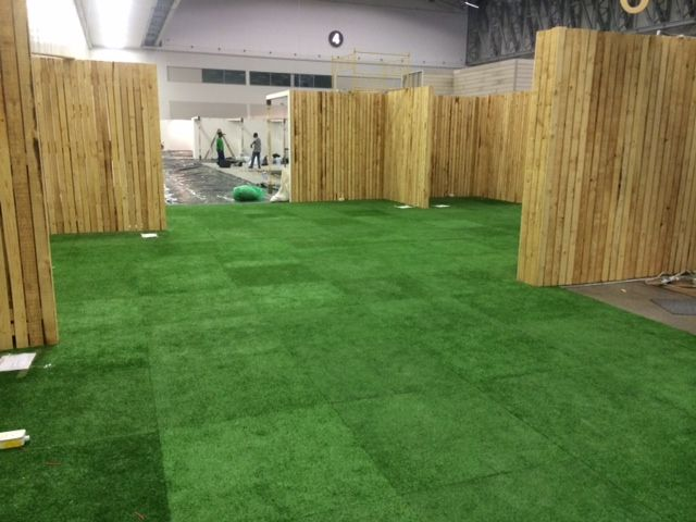 Awesome Astroturf floor for Homemakers Expo 2014