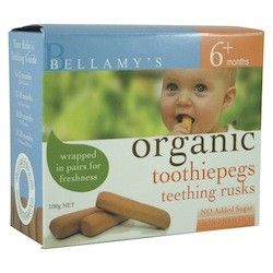 Bellamy's Organic Toothiepegs Teething Rusks