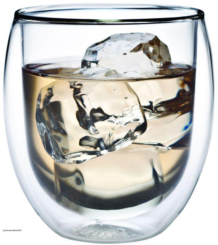 """Das Original! 400ml doppelwandiges Kaffee- und Latte Macchiatoglas """"Teaposy"""" mit Blumenlogo am Glasboden (Thermo- und Schwebe-Effekt), auch für Cocktails, Eis oder als Longdrinkglas"""