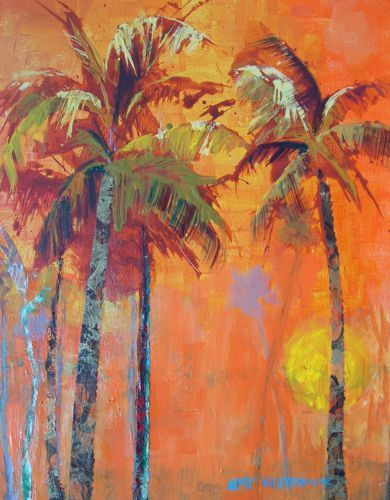 palm tree collage | Amy Whitehouse Paintings: July 2010