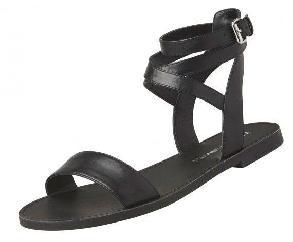 Windsor Smith - Bennie Black Leather Sandals